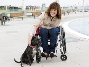 PL L2NO8BC original 300x225 - Woman using a wheelchair with her dog