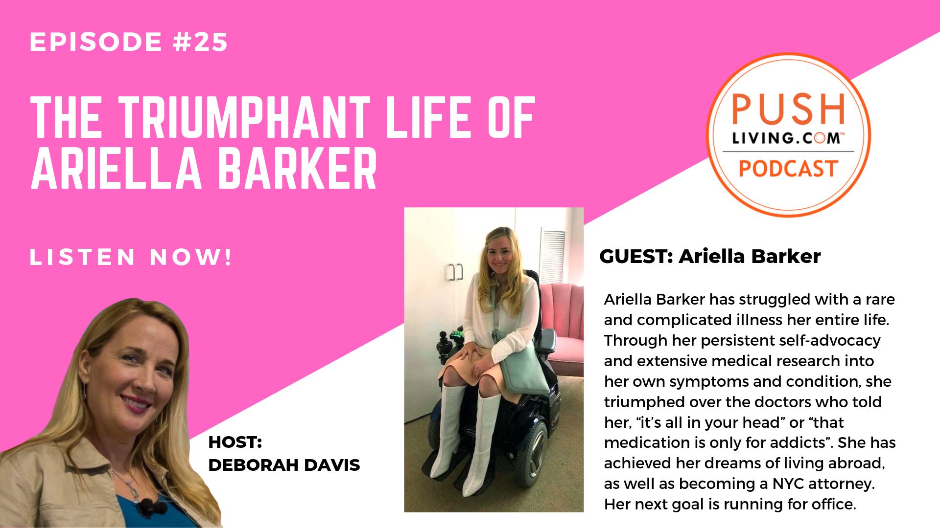 Podcast25 COVER - PUSHLiving Podcast #25: The Triumphant Life of Ariella Barker