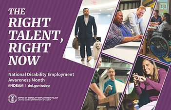 "2019PosterEnglishFront - ""Right Talent, Right Now"" - Navigating Disability Employment"