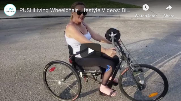 Screen Shot 2019 10 22 at 3.20.22 PM - PUSHLiving Wheelchair Lifestyle Videos: Biking for Cardio, Upper Body Exercise and Fresh Air!