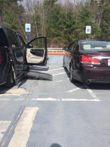 PL DJ8QORM original 1 225x300 - An example of bad parking obsrtructing a disabled parking space