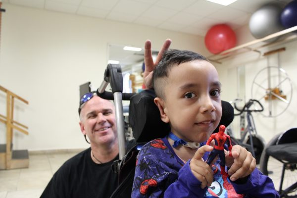 3 cute funny patient and Dave 600x400 - PUSHLiving Podcast #30: Assistive Products: For Everyone, Everywhere with Keoke King