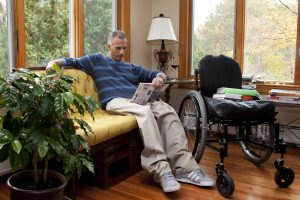 PL 0T9ZLPO original 300x200 - Man in a wheelchair at home on a cool Autumn afternoon