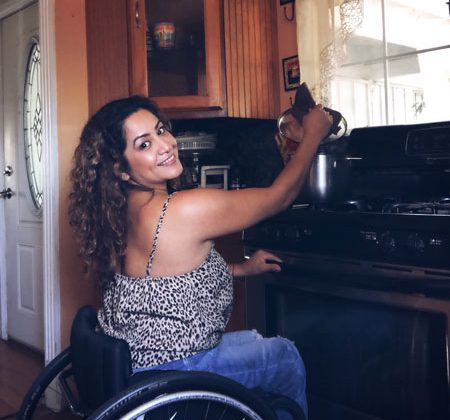 cynthia shows how she cooks her favorite recipes while using wheelchair